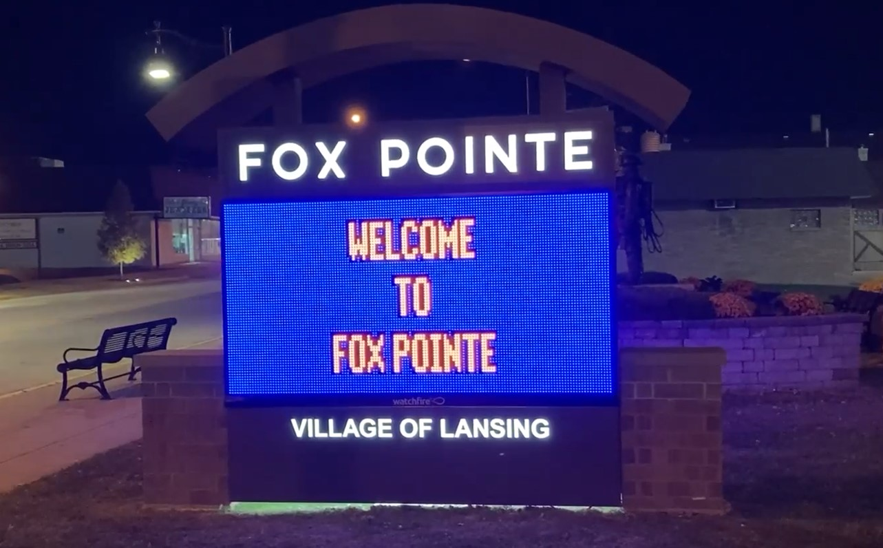 Fox Pointe sign